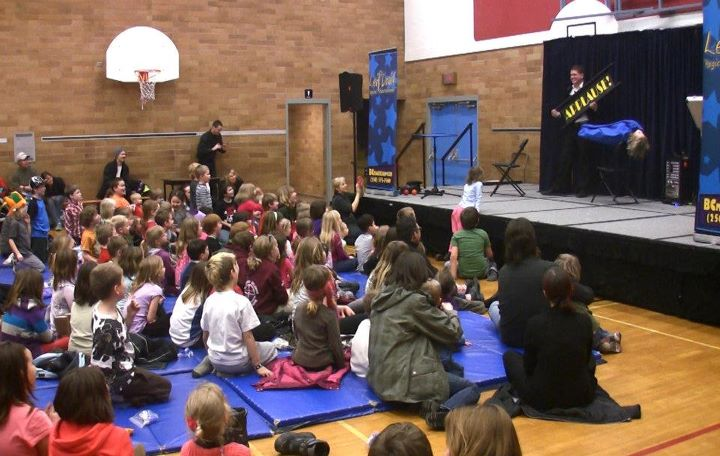 Evening Family Show at an Elementary School